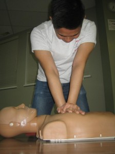 Receiving First Aid and CPR Training for Unconscious Individauals